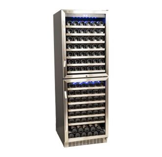 23 inch wide 155 bottle builtin wine cooler with double doors and dual cooling - Built In Wine Cooler