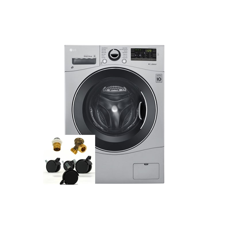 LG WM3488HSKIT 2.3 Cu. Ft. Ventless Washer/Dryer Combo with Portability Kit