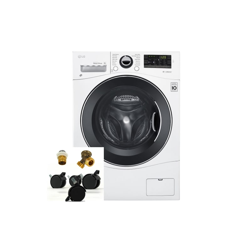 LG WM3488HKIT 2.3 Cu. Ft. Ventless Washer/Dryer Combo with Portability Kit