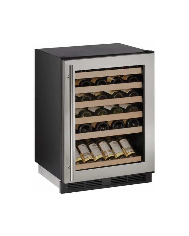 U-Line U-1224WCS-00B 48 Bottle 24 Built-In Wine Captain Single Zone Wine Cooler